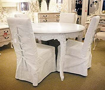 Amazon Com Shabby Chic Dining Table Set 1 Table 4 Chairs Table Chair Sets