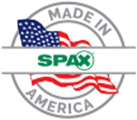 Spax 4571011201525 1//2 x 6 Hex Drive Washer Head Zinc Powerlag Screw 25 Pieces per Box