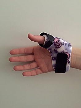 Top Enterprises TPS-MDRT-PKSKL Thumb Pain Relief Splint pink skull medium right