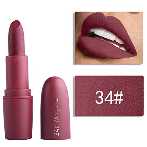 MEIJUIES Matte Lipstick For Women Cosmetics Sexy Mate Waterproof Long-Lasting Nude Red Lips Makeup Levre 34 -