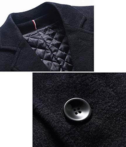 Nen Lunga Abbigliamento Di Invernale Fit Uomini Ntel Lana Slim Winered Degli Cappotto Vento A Giacca Huixin p8wqFUpY