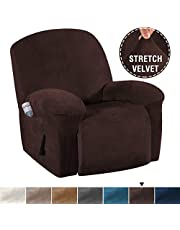 Skid Resistance Sofa Cover Furniture Protector Modern Thick Velvet Plush Slipcover
