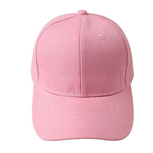UOFOCO Baseball Cap Blank Hat Solid Color Adjustable Hat Pink