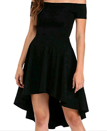 Draped Stylish Tunic Shoulder Swing Dress Line Coolred Swallowtail Mid A Black Women Cold 5ngqgxOfUF