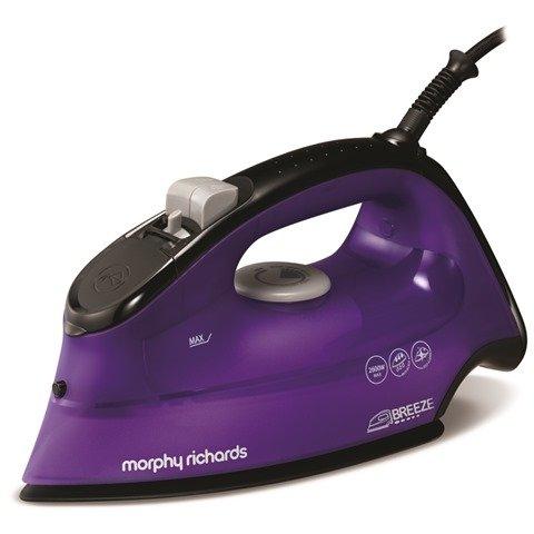 Purple//Black Morphy Richards 300253 Breeze Steam Iron 2600 watts 45g Steam output 130g Steam shot Variable steam Vertical steam