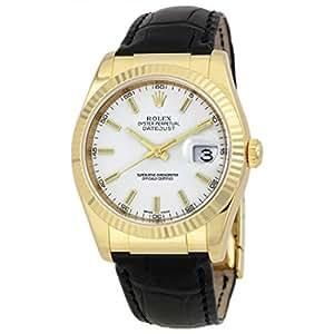 Rolex Datejust White Dial Unisex Watch 116138