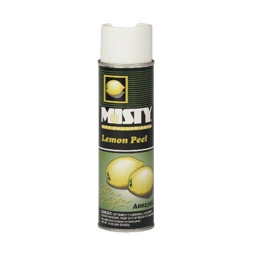 Misty A23820LP Handheld Air Sanitizer/Deodorizer, Lemon Peel, 10oz Aerosol, 12/Carton by AMRA23820LP