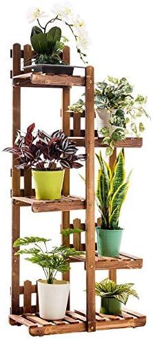 植物スタンド 多層組み立てられたフラワースタンド純木の植物スタンド現代のミニマリストの飾りのラワーラック植物の細分化の園芸ラック フラワースタンド