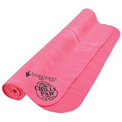 Chilly Pad Sports Towel - Frogg Toggs Chilly Pad Cooling Towel, Hot Pink, Size 33