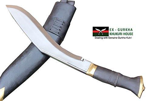 EGKH. Genuine Hand Forged Khukuri – 13 Blade Jungle or PRI Type British Gurkha Kukri, Authentic Khukris Knife Handmade in Nepal