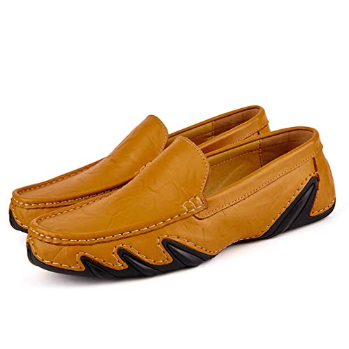 (Phil Betty Mens Casual Shoes Round-Toe Comfortable Wear-Resistant Flat Loafers Shoes)