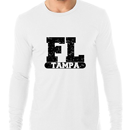 Hollywood Thread Tampa, Florida FL Classic City State Sign Men's Long Sleeve T-Shirt