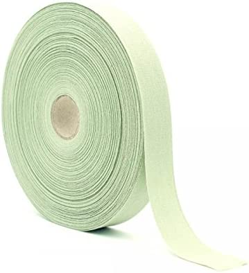 Cinta de algodón verde salvia, H 15 mm Longitud 50 m: Amazon.es: Hogar