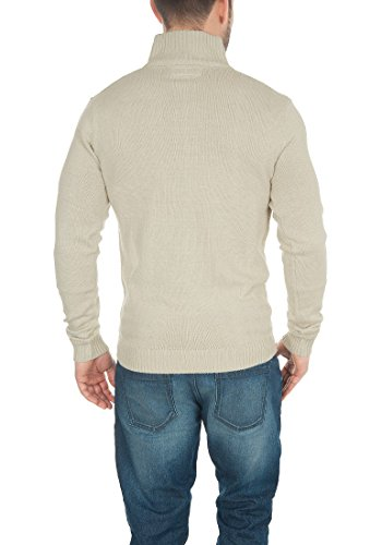 Oyster solid Chaqueta Punto Cárdigan Alto De Con Rebeca Para Hombre Grey Trey Cuello CxqCwrP