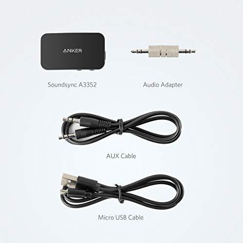 f/ür Auto Kopfh/örer und Lautsprecher Akkulaufzeit von 12 Stunden Anker Soundsync Bluetooth Empf/änger f/ür Musik mit Bluetooth 5.0 Zuhause
