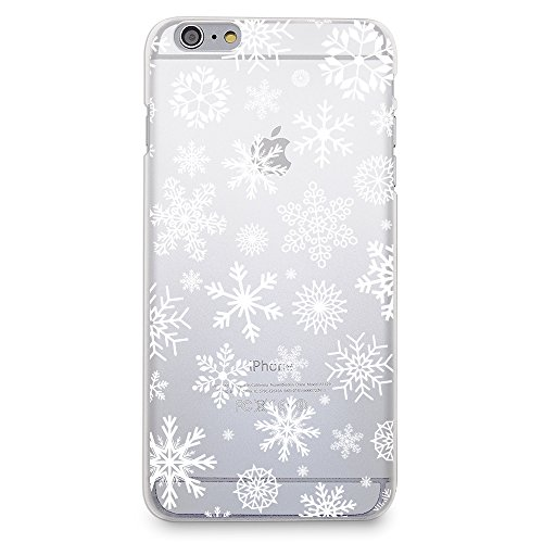 CasesByLorraine Case for iPhone 6 / iPhone 6s, Christmas Snowflakes Case Xmas Holiday Matte Transparent Case Plastic Hard Cover for Apple iPhone 6 / iPhone 6s 4.7 inch (P65)