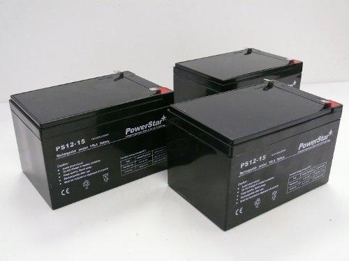 PowerStar 3 Pack - Replacement Battery for Razor MX500 MX 500 650 MX650 Dirt Rocket Sc by PowerStar