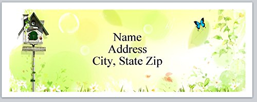 (120 Personalized Address labels Primitive Country Birdhouse Butterfly (P 286))