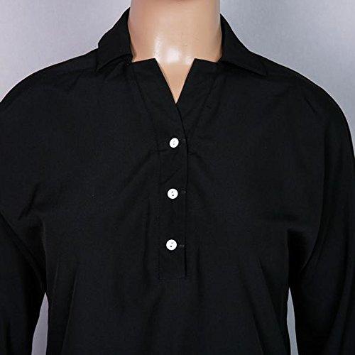 zhxinashu Summer Dresses Women Sexy Sleeves Half Size Plus Dress Black nrgqrBx