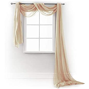 Window Elements Ashville Printed 216 X 54 In Sheer Curtain Scarf