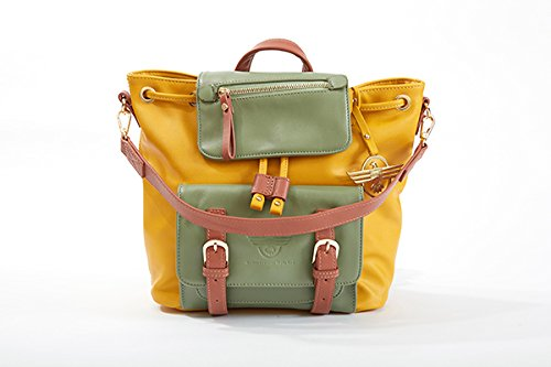 QSL - Quintessential-Style Ltd - Bolso mochila  de poliuretano para mujer amarillo amarillo