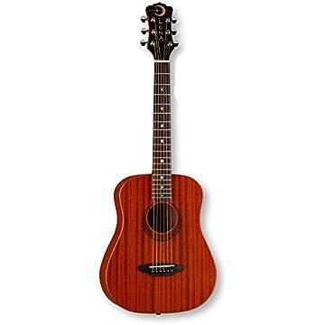 1e68bc1d2a Luna Safari Series Muse Mahogany 3/4-Size Travel Acoustic Guitar - Natural