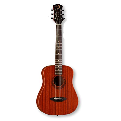 Price comparison product image Luna Safari Series Muse Mahogany 3 / 4-Size Travel Acoustic Guitar - Natural