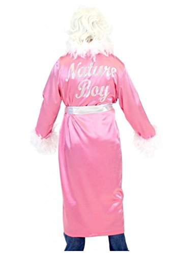 Adult Wrestling Wrestler Ric Flair Nature Boy Costume Robe and Wig (PINK) (Ric Flair Costumes)