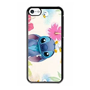 Grouden R Create and Design Phone Case, Stitch (2) Cell Phone Case for iPhone 5C Black + Tempered Glass Screen Protector (Free) LPC-8027787