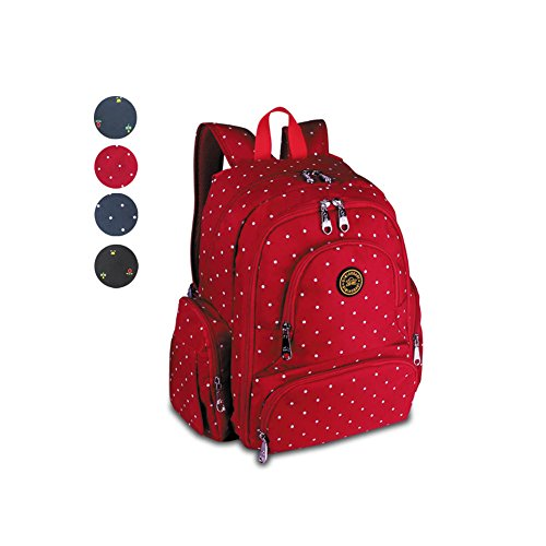 YuHan Baby Diaper Bag Travel Backpack Handbag Large Capacity Fit Stroller Red