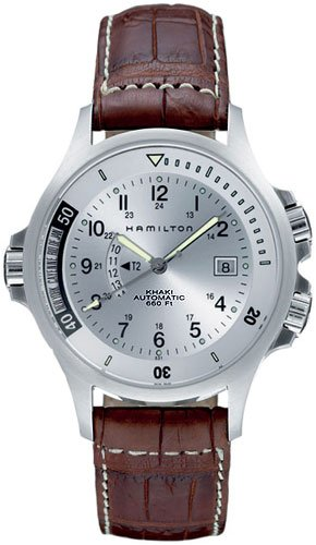 Hamilton Men's Khaki Navy GMT watch (Khaki Navy Gmt Watch)