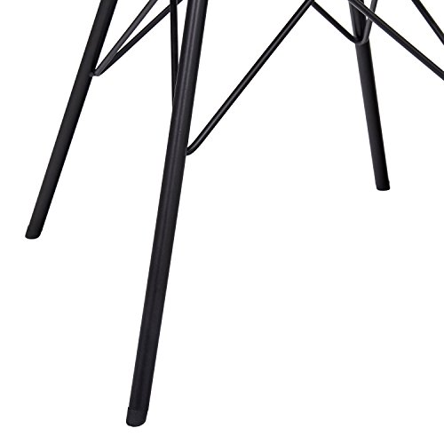 Rivet Stevie 2-Pack Velvet Stools, 20.9 H, Yellow Green