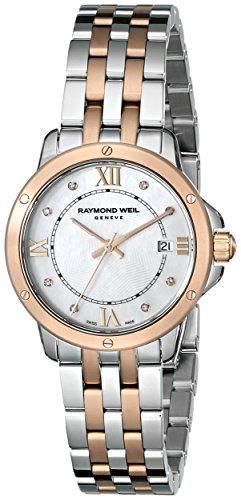 Raymond Weil Women's 5391-SP5-00995 Tango Analog Display Swiss Quartz Two Tone - Raymond Tango Weil Watch Diamond