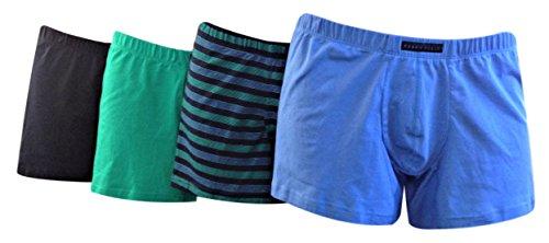Perry Ellis Portfolio - Mens Cotton Stretch Boxer Briefs (4 Pairs) - 960588 (Large, Ultramarine/Deep (Perry Ellis Spandex Briefs)