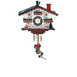 Miniature Quartz Swinging Mountaineer Cuckoo Clock, 5 Inch