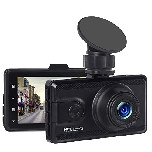 Dashboard Camera, 3 Screen Full HD 1080P Car Camcorder 170 Degree Wide Angle, Car DVR Vehicle Dash Cam with G-Sensor, WDR, Loop Recording