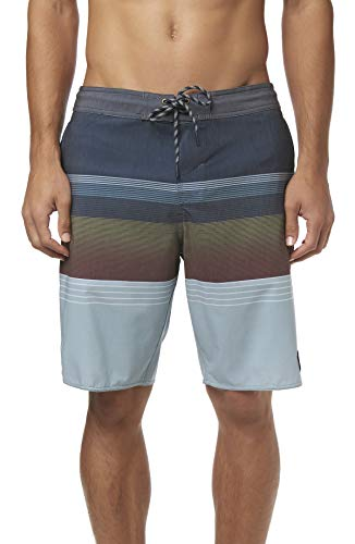 O'Neill Men's Volley Swim Boardshorts, 20 Inch Outseam (Navy/Stripe Club, ()