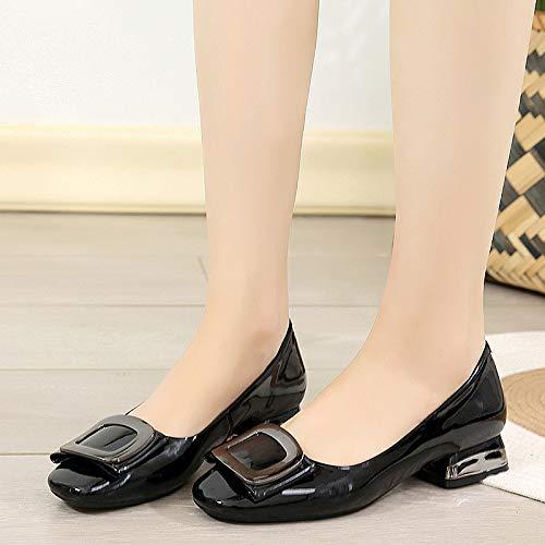 Cuero de de de cómodos la Casuales Zapatos Moda de Zapatos Boca de Boda señoras Las Trabajo A FLYRCX Zapatos Baja Zapatos de xnYSIXqtZx