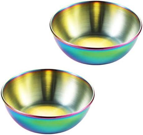 UPKOCH Cuencos de cerámica de acero