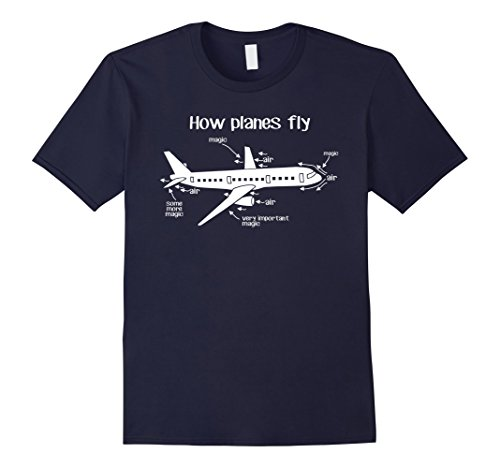 Men's Aerospace Engineer / Engineering Shirt - How Planes Fly Large Navy
