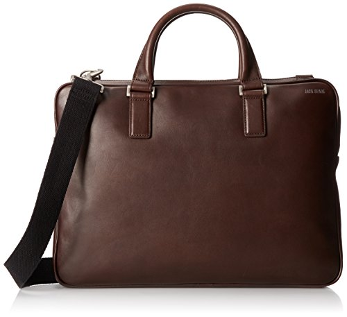 Jack Spade Men's Fulton Leather File Brief Brown, One for sale  Delivered anywhere in USA