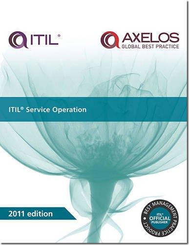 ITIL Service Operation: 2011 (Best Management Practice) (Itil Change Management Best Practices)