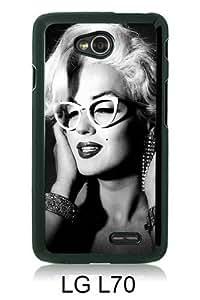 Marilyn Monroe 2 Black New Style Custom LG L70 Cover Case