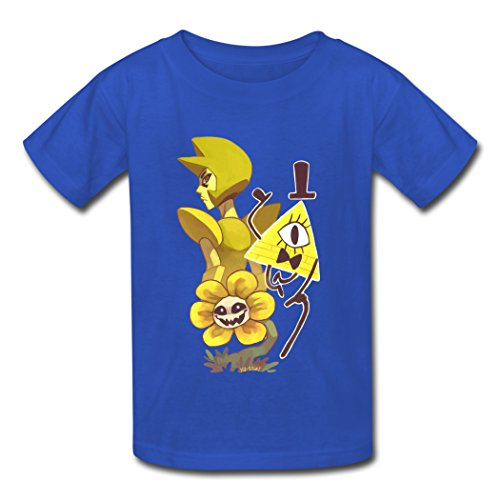 Steven Universe Undertale Gravity Falls KingDeng Latest Offers Blue Kids T-Shirt Large