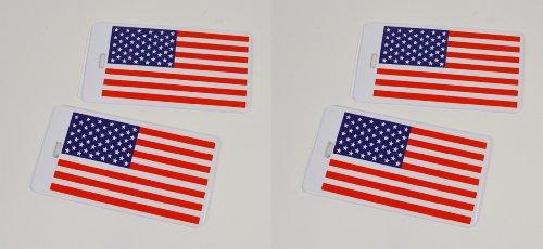 - Rand McNally USA American Flag Luggage Bag Tags, 4 Total