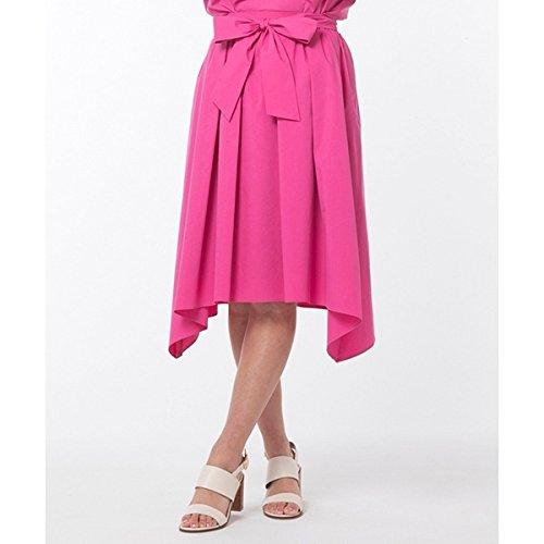 ローズティアラ(大きいサイズ)(Rose Tiara) 全2色【大きいサイズ】【4246】ウエストリボンイレギュラーヘムスカート B079WMWVJ5 42(LL) 40ピンク 40ピンク 42(LL)