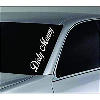 Dabbledown decals large dirty money car truck window windshield lettering decal sticker decals stickers jdm drift