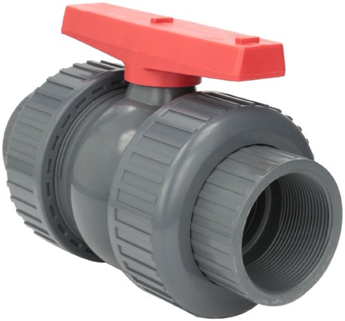 Hayward TBB1030TPEG 3-Inch Gray PVC TBB Series True Union Ball Valve with EPDM O-rings and Threaded End Connection - 3