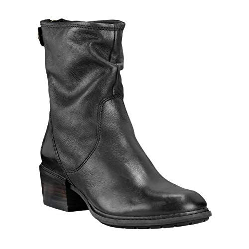 - Timberland Women's Sutherlin Bay Mid Back Zip Boot Black Full Grain 6 B US