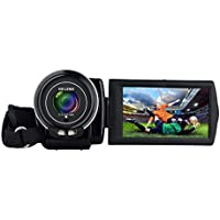 Camera Camcorder, ODGear Portable Digital Video Camcorder Full HD 24 Mega Pixels 3.0inch LCD Rotatable Touch Screen 16 Digital Zoom Camera Recorder Black 16GB SD Card Included